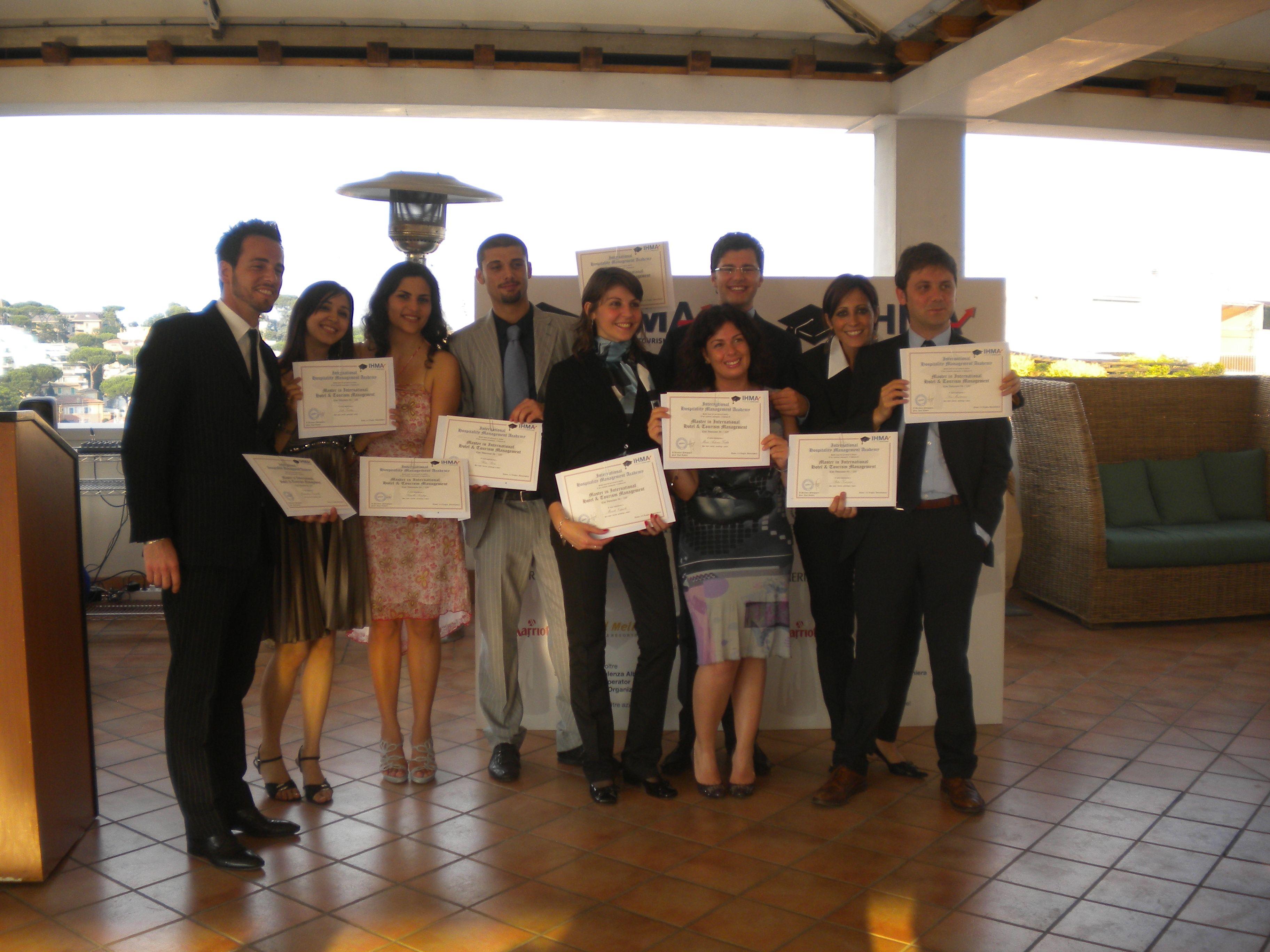 Cerimonia di consegna dei diplomi del Master in International Hotel & Tourism Management