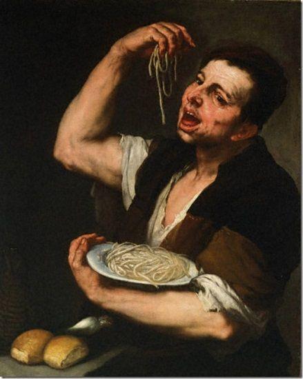 il mangiatore di pasta Luca Giordano - turisti enogastronomici