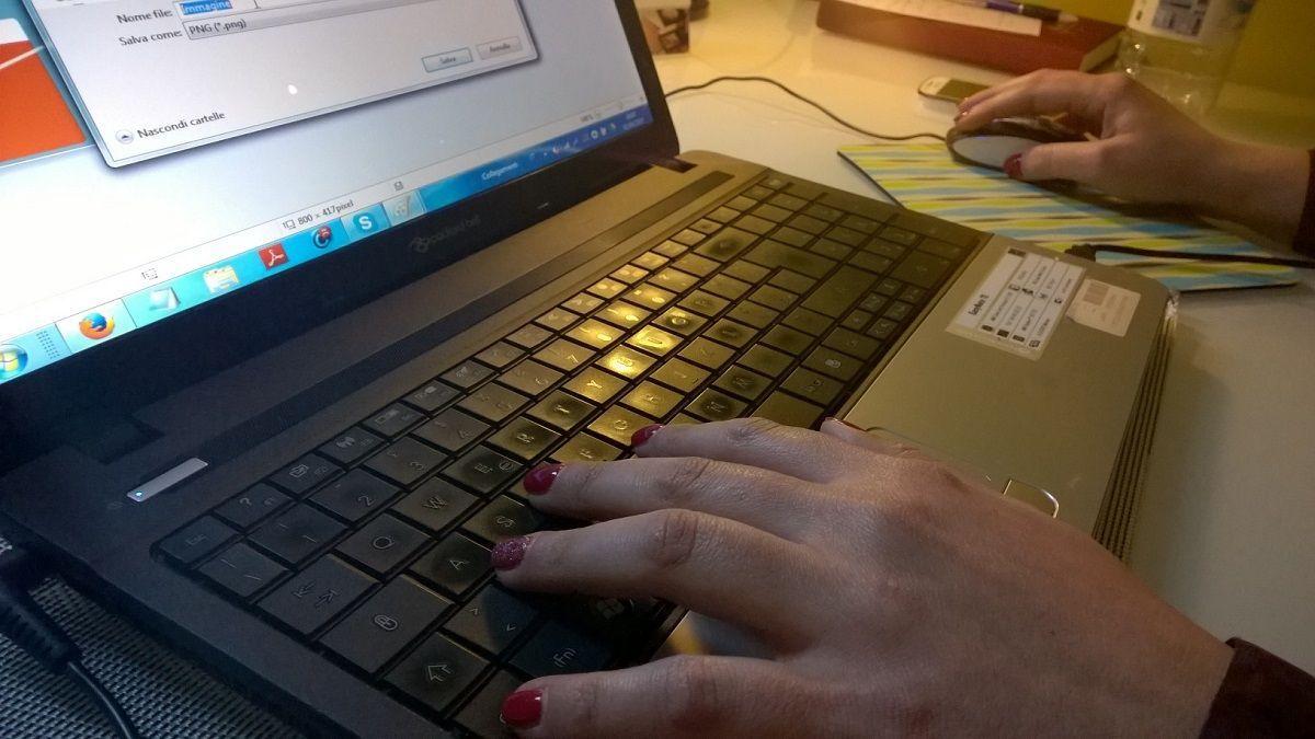 digitare tastiera pc