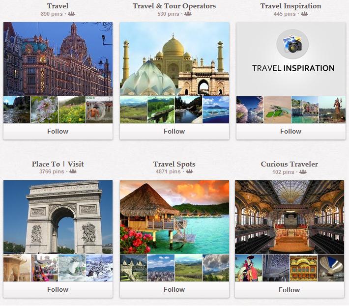 Pinterest-Travel-Board